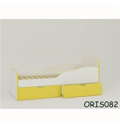 Підліткове ліжечко Oris Selena біло-жовтий