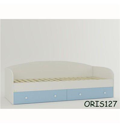 Підліткове ліжечко Oris Nika біло-блакитний