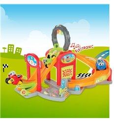 Електронна парковка супер гонки зі світлом і звуком Smoby Vroom Planet 211399