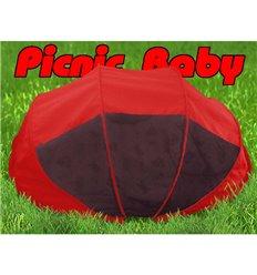 Складна сумка-ліжко з матрацом і подушкою Ontario Picnic Baby Червона