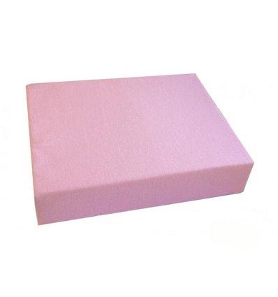 Простирадло Twins на резинці рожеве