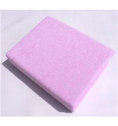 Простирадло махрове Twins на резинці рожеве