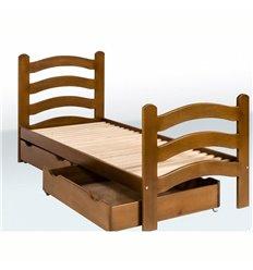 Ліжечко одноярусне з фігурними спинками і ящиками