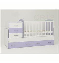 Дитяче ліжко-трансформер Oris Afina біло-ліловий
