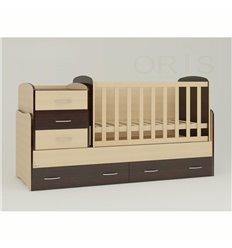 Дитяче ліжко-трансформер Oris Afina комбінований венге