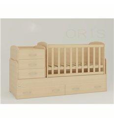 Дитяче ліжко-трансформер Oris Afina сосна лоредо світлий венге