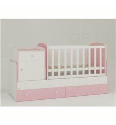 Дитяче ліжко-трансформер Oris Metida біло-рожевий