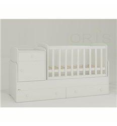 Дитяче ліжко-трансформер Oris Metida білий