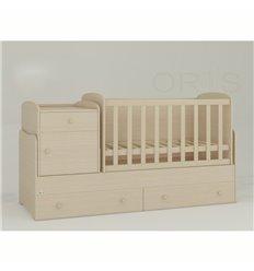 Дитяче ліжко-трансформер Oris Metida дуб молочний