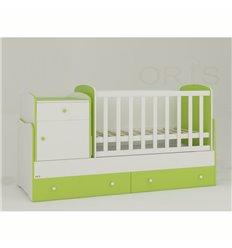 Дитяче ліжко-трансформер Oris Metida біло-зелений