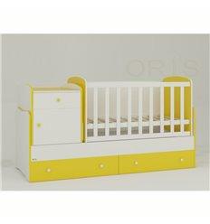 Дитяче ліжко-трансформер Oris Metida біло-жовтий
