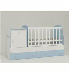 Дитяче ліжко-трансформер Oris Metida біло-блакитний