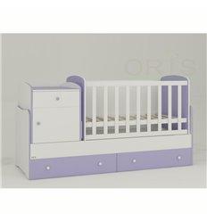 Дитяче ліжко-трансформер Oris Metida біло-ліловий