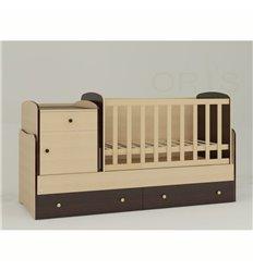 Дитяче ліжко-трансформер Oris Metida комбінований венге