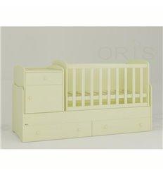 Дитяче ліжко-трансформер Oris Metida ваніль