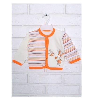 Кофточка Татошка 04502 молочний/оранжевий/принт полоска