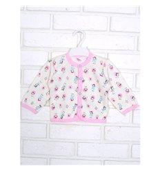 Кофточка Татошка 04602 молочний/рожевий/принт ферма