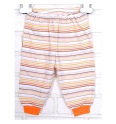 Штани Татошка 18607 білий-оранжевий-жовтий-бежевий полоска