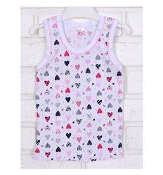 Майка Татошка 25628 білий-рожевий-принт сердечка