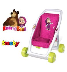 Коляска для ляльки Smoby Маша і Ведмідь 250201