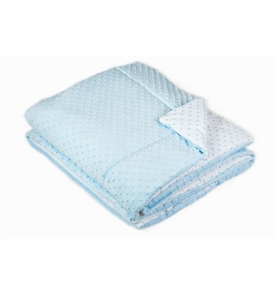 Ковдра і подушка в ліжечко Twins Minky blue