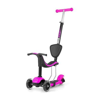 Самокат триколісний Milly Mally Scooter Little Star Pink