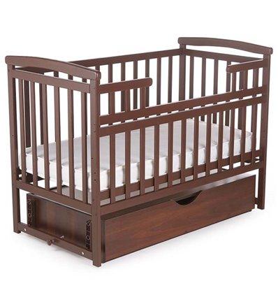 Ліжечко Дитячий Сон з маятником і ящиком венге