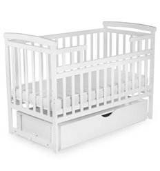 Ліжечко Дитячий Сон з маятником і ящиком біле