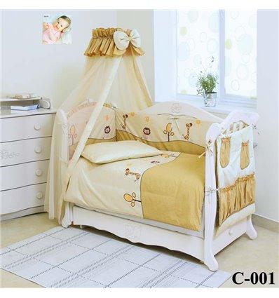 Дитячий постільний комплект Twins Comfort 8 елементів C-001 Африка