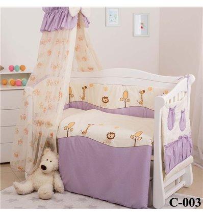 Дитячий постільний комплект Twins Comfort 8 елементів C-003 Африка