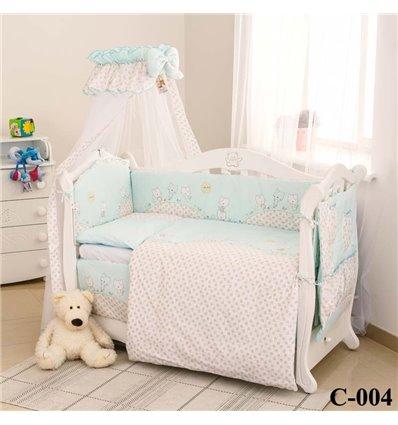 Дитячий постільний комплект Twins Comfort 8 елементів C-004 Котята