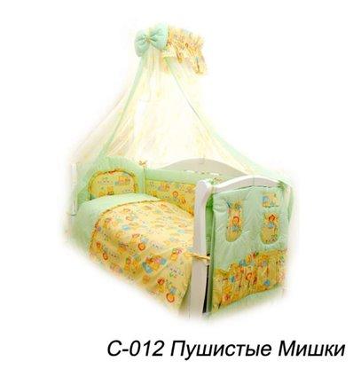 Дитячий постільний комплект Twins Comfort 8 елементів C-012 Пухнасті Мішки