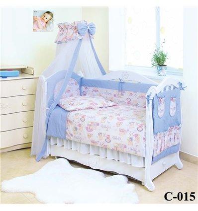 Дитячий постільний комплект Twins Comfort 8 елементів C-015 Пухнасті Мішки