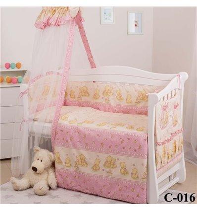Дитячий постільний комплект Twins Comfort 8 елементів C-016 Ведмедики з зірками
