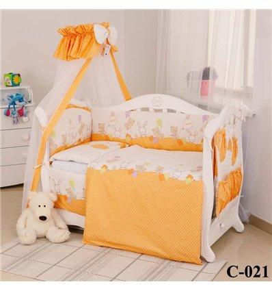 Дитячий постільний комплект Twins Comfort 8 елементів C-021 Горошки