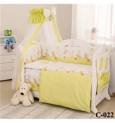 Дитячий постільний комплект Twins Comfort 8 елементів C-022 Горошки