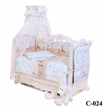 Дитячий постільний комплект Twins Comfort 8 елементів C-024 Жирафи