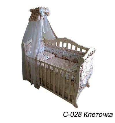 Дитячий постільний комплект Twins Comfort 8 елементів C-028 Клітинка