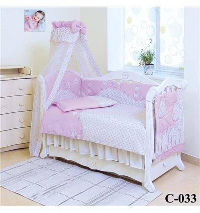 Дитячий постільний комплект Twins Comfort 8 елементів C-033 Котята