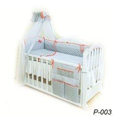 Дитячий постільний комплект Twins Premium Glamur 8 елементів P-003