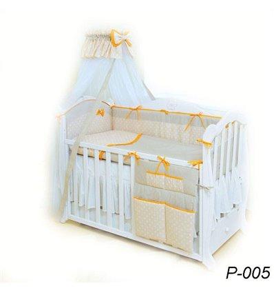 Дитячий постільний комплект Twins Premium Glamur 8 елементів P-005