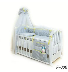 Дитячий постільний комплект Twins Premium Glamur 8 елементів P-006