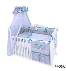 Дитячий постільний комплект Twins Premium Glamur 8 елементів P-008