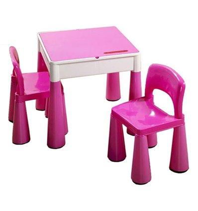 Дитячий столик і стільчики Tega Mamut рожевий