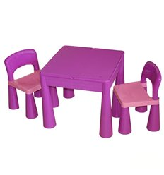 Дитячий столик і стільчики Tega Mamut фіолетовий