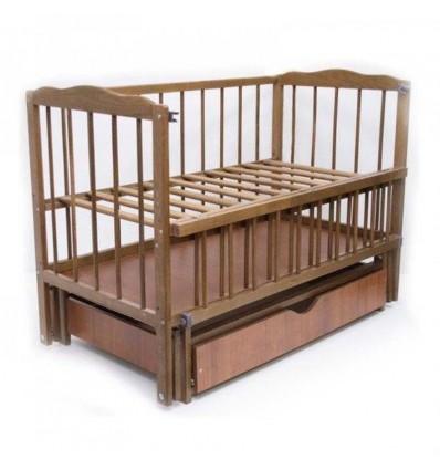 Дитяче ліжко Колисковий Світ Малятко з шухлядою Горіх лісовий