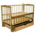 Дитяче ліжко Колисковий Світ Малятко з шухлядою Дуб