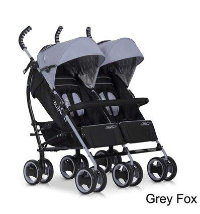 Прогулянкова коляска для двійні EasyGo Duo Comfort Carbon