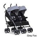 Прогулянкова коляска для двійні EasyGo Duo Comfort Grey Fox