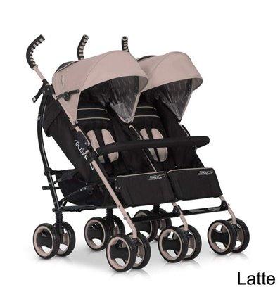Прогулянкова коляска для двійні EasyGo Duo Comfort Latte